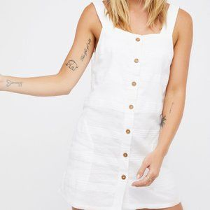 NWT FREEPEOPLE WHITE MINI TANK DRESS